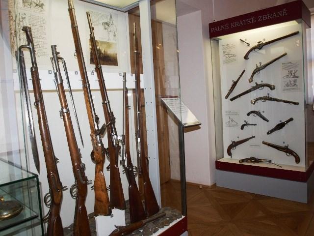 Muzeum v Berouně nabízí sedm stálých expozic. Nechybí ani zbraně z 18. a 19. století