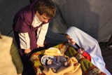 Na Dómském náměstí v Litoměřicích si můžete prohlédnout živou scénu z Betléma