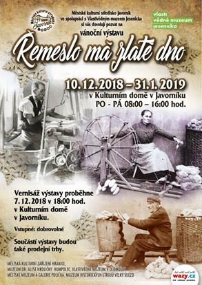 Výstavu v Javorníku přibližuje pestrou škálu řemesel a jejich využití v praxi