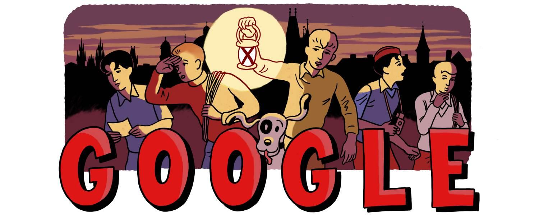 Google slaví 80 let Rychlých šípů slavnostním logem od českého kreslíře a online zpřístupněním bytu Jaroslava Foglara
