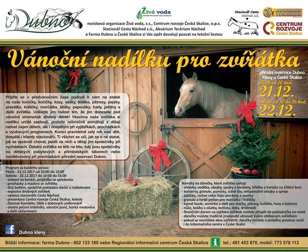 Popis: Vánoční nadílka pro zvířátka.