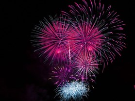 Novoroční ohňostroj u Světa