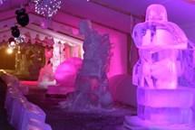 Ledové království znovu nabízí nádherné sochy z ledu a sněhu