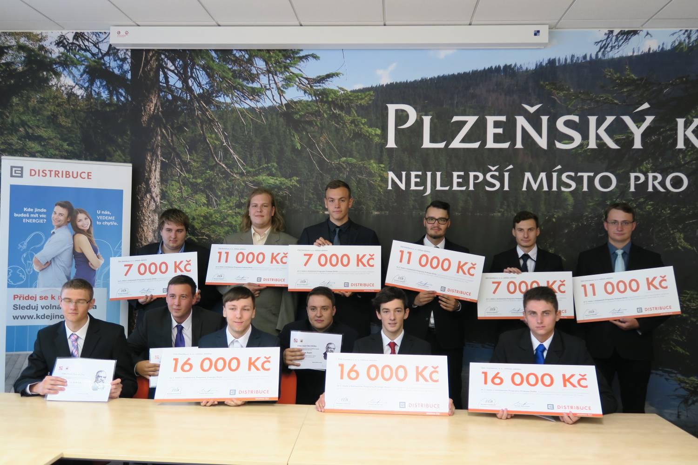 Prokop Diviš rozdával studentům SOUE Plzeň stipendia