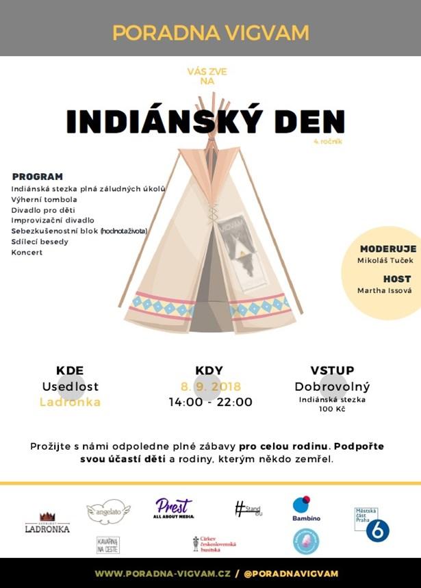 Indiánský den nabídne indiánskou stezku či divadlo pro děti i dospělé