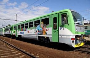 Cyklohráček v sobotu zaveze cestující až do železničního muzea ve Zlonicích