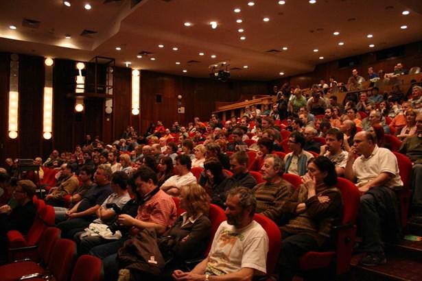Popis: Publikum při festivalu Cyklocestování ve Frýdku-Místku.