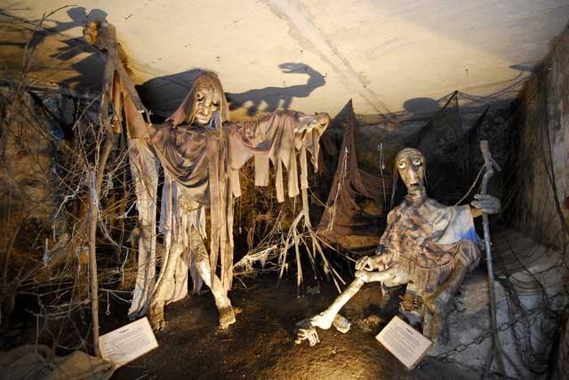 V muzeu jsou repliky nadpřirozených bytostí, které se vyskytovaly na Pelhřimovsku