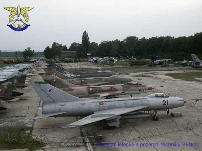 Muzeum letecké a pozemní techniky ve Vyškově.