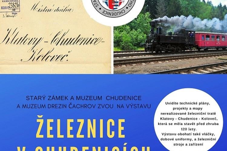 Výstava se věnuje době, kdy měla vzniknout trať z Klatov do Chudenic a Kolovče