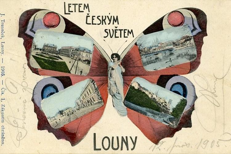 V Oblastním muzeu jsou vystaveny staré pohlednice Loun